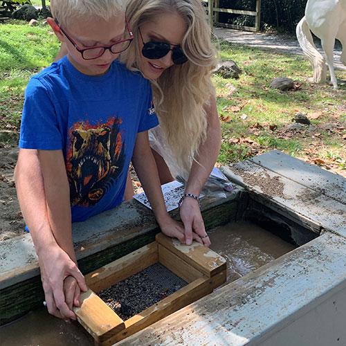 Mining for Gems at Land of Little Horses Animal Theme Park