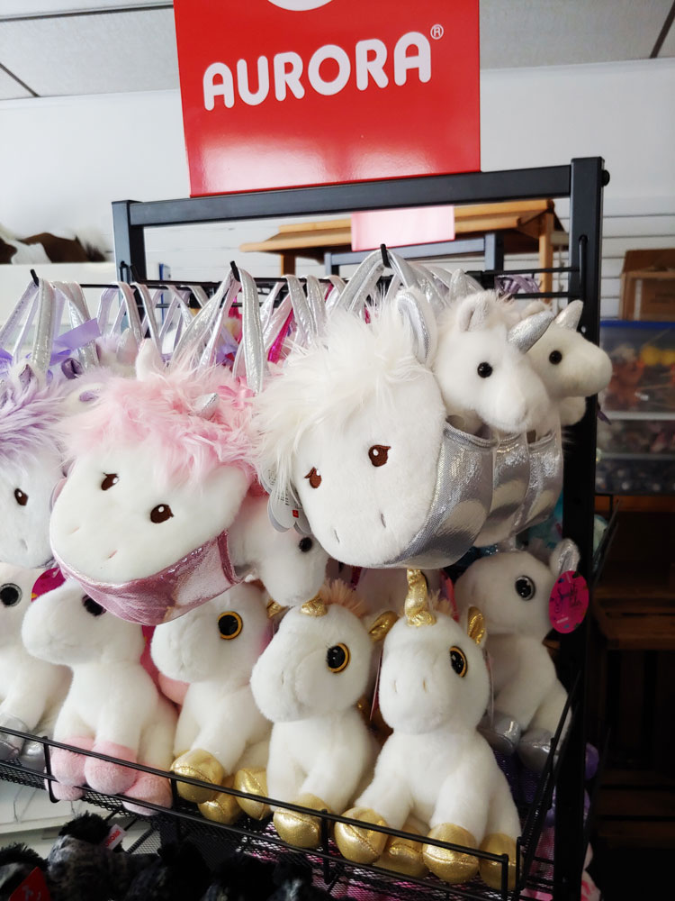 Unicorn Plush at Land of Little Horses Animal Theme Park Gift Shop