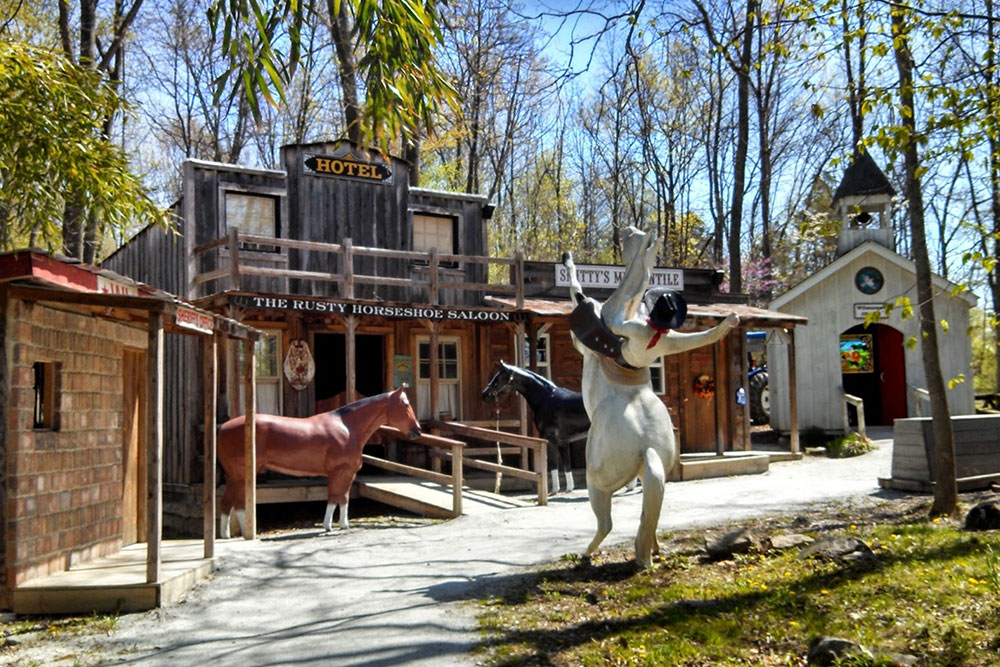 Western Town at Land of Little Horses Animal Theme Park